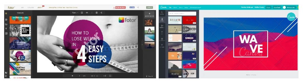 comparing fotor versus canva